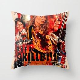 kill bill movie posters Throw Pillow