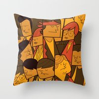 goonies Throw Pillows featuring The Goonies by Ale Giorgini