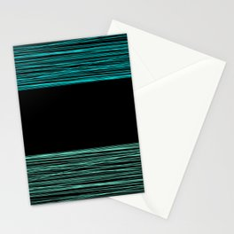 Thread , black and green Stationery Cards
