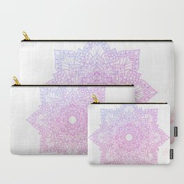 Violet pink flower mandala - marble Carry-All Pouch