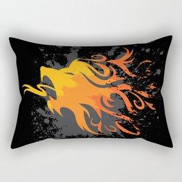 Fire Lion Rectangular Pillow