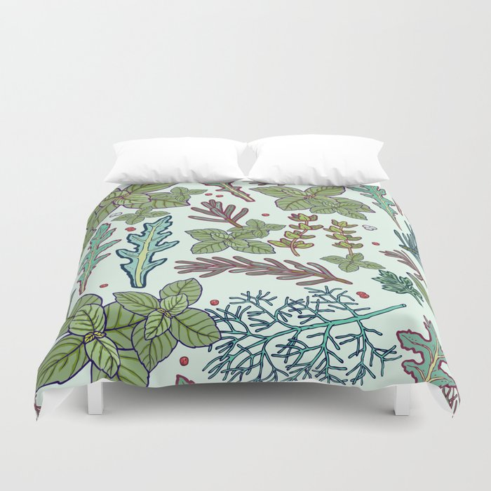 herbs pattern Duvet Cover