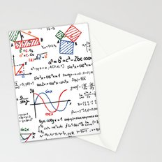 Math Cheat Sheet Stationery Cards