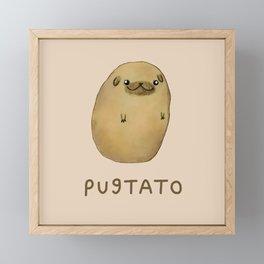 Pugtato Framed Mini Art Print