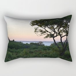 When the Night Sky Touches the Ocean Rectangular Pillow