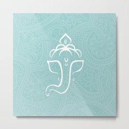 Blue Ganesh - Hindu Elephant Deity Metal Print