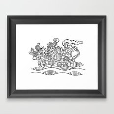 dragon ship Framed Art Print