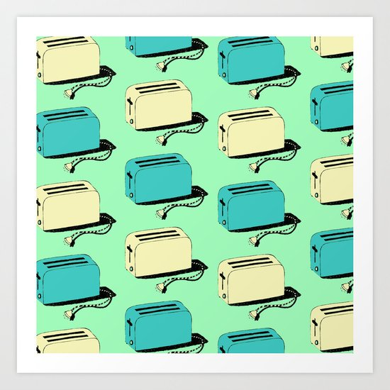 Toasters (mint & cream) Art Print