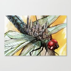 Dragonfly City Canvas Print
