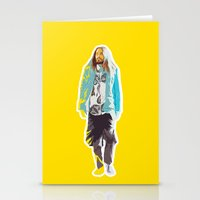 jared leto Stationery Cards featuring Jared Leto and his wisdom  by Olga Panteleyeva