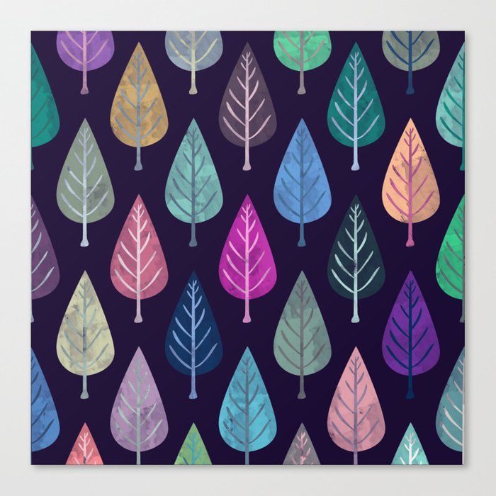Watercolor Forest Pattern IV Leinwanddruck