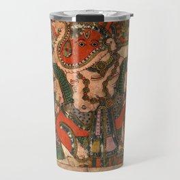 Hindu Krishna Ganesh Tapestry Travel Mug