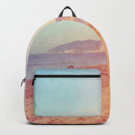 Color gradient sunny beach pastel holidays vintage happy Backpack