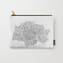 Groningen Lettering Map Carry-All Pouch