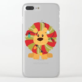 Your Big Cat in Decorative Christmas Wreath Clear iPhone Case