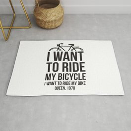 I want to ride my bike! For sports and rock and roll lovers Rug