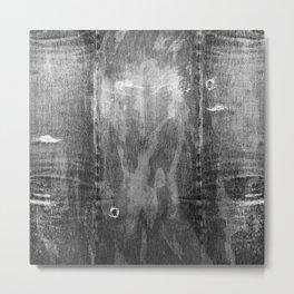 black denim Metal Print