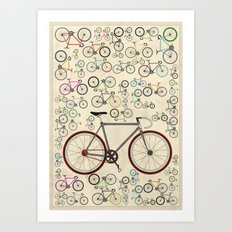 Love Fixie Road Bike Art Print