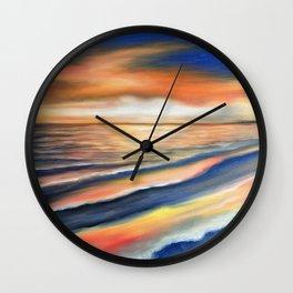 Sunset Fort Myers Beach Wall Clock