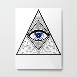 Evil Eye Triangle Metal Print
