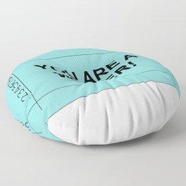 Ticket Green Floor Pillow