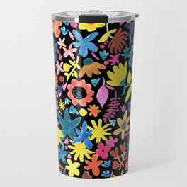 Autumm´s flowers and black Travel Mug