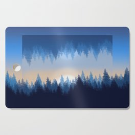 Winter Pines Reflected Cutting Board