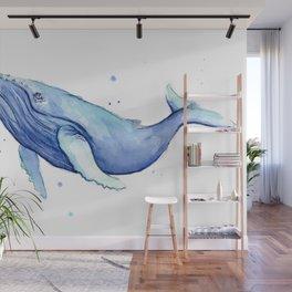 Humpback Whale Watercolor Wall Mural