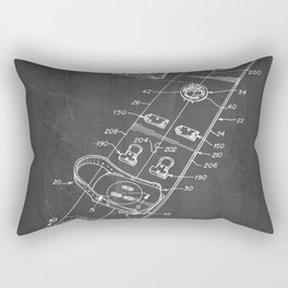 Snowboard Patent - Snowboaring Art - Black Chalkboard Rectangular Pillow