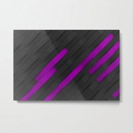 Black and violet plastic waves Metal Print
