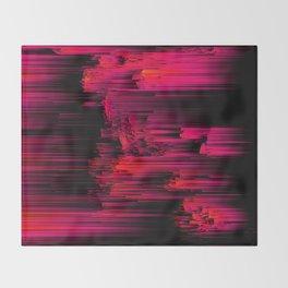 Burnout - Glitch Abstract Pixel Art Throw Blanket