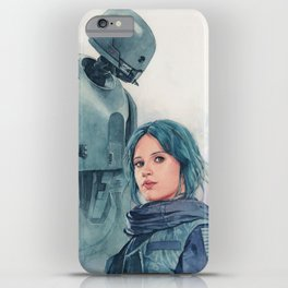 Jyn Erso and K-2so iPhone Case