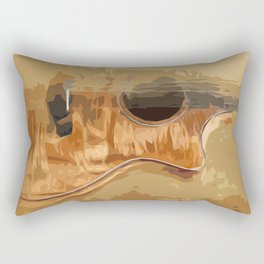 Guitar fractal brown back Rectangular Pillow