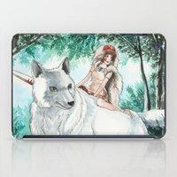 princess mononoke iPad Cases featuring Princess Mononoke by VivianLohArts