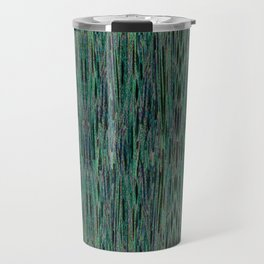 Vertical Forest Green Abstract Travel Mug