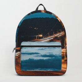 Blue Dusk Bridges Backpack