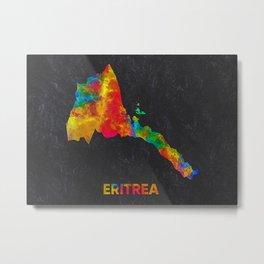 Eritrea Map Metal Print