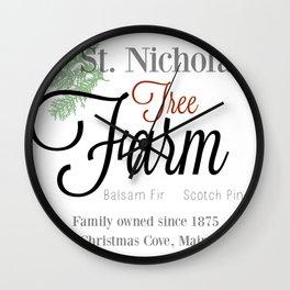 St. Nicholas Tree Farm Wall Clock