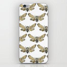 Summer Cicada – Black & Gold Palette iPhone Skin