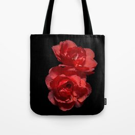 Blood Red Camelia Tote Bag