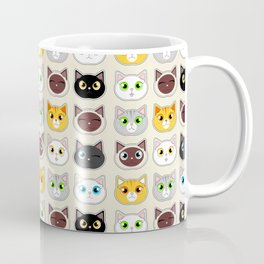 Cute Cat Expressions Pattern Coffee Mug