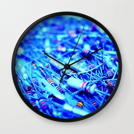 Blue Resistance Wall Clock