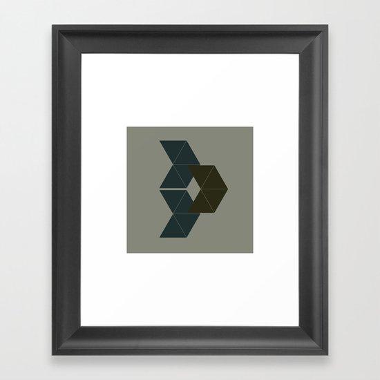 #75 Fleet – Geometry Daily Framed Art Print