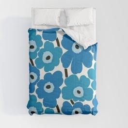 blue Marimekko floral Comforters
