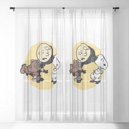 Adventures Of Charlie Sheer Curtain