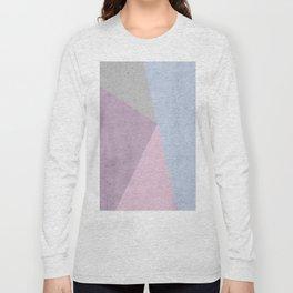 Cold Tones Geometry Long Sleeve T-shirt