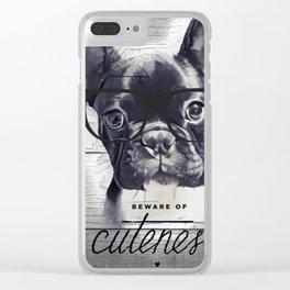 Beware of Cuteness Clear iPhone Case