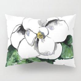 White magnolia Pillow Sham