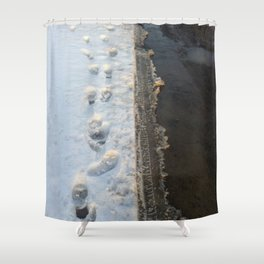 winter is gone? Shower Curtain