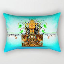 Music Stereo Robot Rectangular Pillow